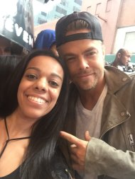"""Thanks for today @derekhough!! You're the best! 😍🙌"" - September 7, 2016 Courtesy x3stef twitter"