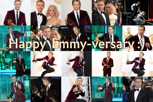 Happy Emmy-versary Derek Hough - September 22, 2016