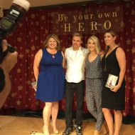 """Thanks to @juleshough and @derekhough for supporting our efforts to build the most incredible Sophie's Place yet at the Forever Young Zone at Cardon Children's Medical Center. Your spirits are infectious and we love how grounded you both are. And what a proud Dad...he brought tears to our eyes! We hope your tour is a smashing success and to see you at Stars of the Season this year in October! @angelicajfranco #starsoftheseason #sophiesplace #foreveryoungzone #cardonchildrensmedicalcenter"" Courtesy Monica Monson IG"
