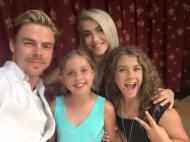 """Mia + Madi love Derek & Julianne Hough. oh my...they are SO sweet!! Thank you for coming to Banner Children's at Cardon Children's and Banner Thunderbird for Sophie's Place ... You rock! #SophiesPlace #MiasMarrow #MusicTherapy #MusicHeals #DerekHough #JulianneHough"" Courtesy Mia's Marrow Facebook"