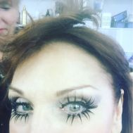 """Makeup is finished. Now working on hair. Can you tell what I am? #DWTS Argentine Tango, here we come! #HalloweenNight"" - October 31, 2016 Courtesy therealmarilu IG"