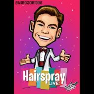 """6/11: you can't stop the beat! 🎶👗🎉@derekhough is #cornycollins in the new @nbchairspraylive on december 7th! 😃😃 Hope you guys like it! 😊🙃 #derekhough #jvidrogocartoons #hairspray #hairspraylive #hairspraylive2016"" - October 29, 2016 Courtesy jvidrogocartoons IG"