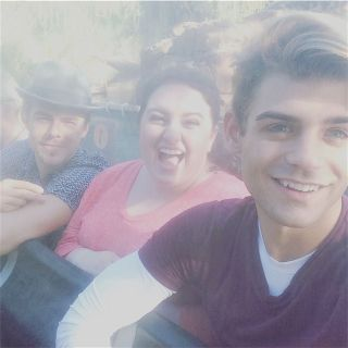 """Little Jurassic break at work today with @derekhough and @MaddieBaillio"" - October 27, 2016 Courtesy garrettclayton1 IG"