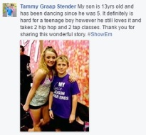 People's reactions to Derek's powerful message about bullying - Comment by Tammy Graap Stender