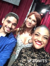 """Gearing up for a memorable night on #DWTS with these three 😍 @Dance10Alan, @lzhernandez02, @TheRealMarilu"" - October 10, 2016 Courtesy dancingabc twitter"