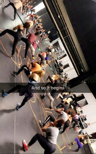 First day of rehearsals for Hairspray Live! - October 20, 2016 Courtesy derekhough snapchat