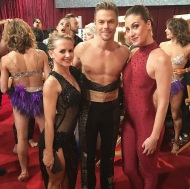 """Last night at @dancingabc with #mariepoppins and #derekhough ready to perform #Kairos • #dwts #live #tango #performance #argentinetango #dancers #dancelife"" - October 4, 2016 Courtesy ekfedosova IG"