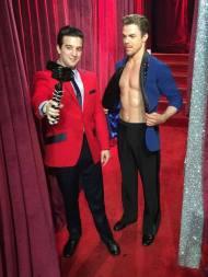 Derek and Mark backstage during the ninth week of Season 23 - November 7, 2016 Courtesy jersey boys facebook