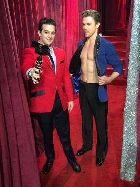 Derek and Mark backstage during the ninth week of Season 23 - November 7, 2016 Courtesy jersey boys facebook