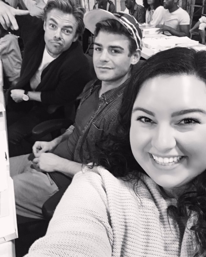 """""""fun fun fun another day another slay #hairspraylive"""" - October 20, 2016 Courtesy maddiebaillio twitter"""