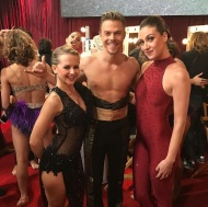 """Last night backstage with the amazing @ekfedosova and @derekhough, ready to perform with @allisonholker in Derek's Piece #Kairos on @dancingabc. Thank you for the opportunity and for inspiring me so much with your talent 🙏🙏🙏"" - October 4, 2016 Courtesy mariepoppinsdancer IG"