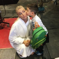 """""""#WCW for @i.am_london. He stopped by to see Mommy on set but he really only wanted a kiss from Julianne Hough"""" - October 19, 2016 Courtesy nappytabs IG"""