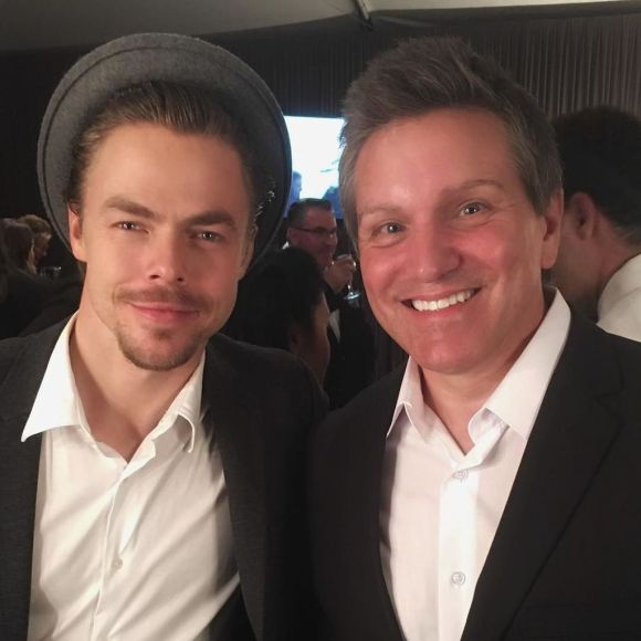 """@derekhough did an awesome ""Singin' in the Rain"" number tonight at the @mptf Benefit. He's Corny Collins in ""Hairspay Live!"" - October 1, 2016 Courtesy BrianBeacock twitter"
