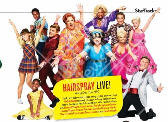 Derek and the cast of Hairspray Live! featured on October 31, 2016 issue of People Magazine