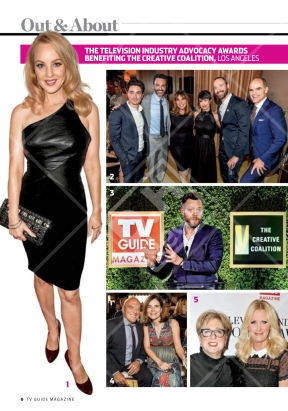 Advocacy Awards featured on TV Guide (October 3, 2016 issue)