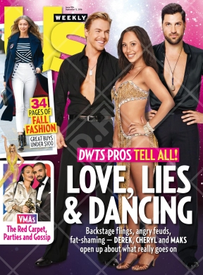 Derek, Cheryl and Maks' interview with Us Weekly before the premiere of Season 23 of Dancing with the Stars Courtesy: Us Weekly (September 12, 2016 issue)