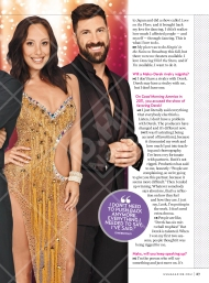 Derek, Cheryl and Maks' interview with Us Weekly before the premiere of Season 23 of Dancing with the Stars Courtesy: Us Weekly (September 26, 2016 issue)
