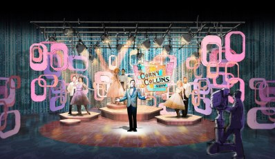 """The Corny Collins Show"" set design - Hairspray Live!"
