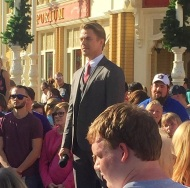 """Saw Derek Hough filming at Disney today 😍 #derekhough #magickingdom #dwts"" - November 12, 2016 Courtesy catyoo91 IG"