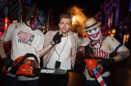 """Thanks for scaring the life out of me on Saturday @HorrorNights @UniStudios #UniversalHHN"" - October 24, 2016 Courtesy derekhough IG"
