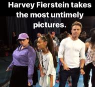 Derek and cast of Hairspray Live! during rehearsals - November 17, 2016 Courtesy maddiebaillio IG