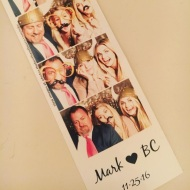 """Photo booth fun at Mark and BC's wedding ❤️what a beautiful celebration--so happy for you!! @markballas @bcjean"" - November 25, 2016 Courtesy mindya IG"