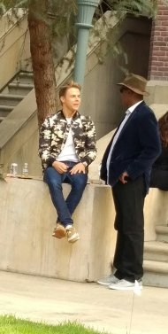 """Kenny Leon and Derek Hough hanging on the set of @HairsprayLive."" - November 16, 2016 Courtesy mruggieriajc twitter"