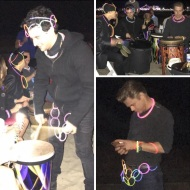 """Drum beats on the beach with the boys... wahooo...#derekhough #markballas#corkyballas"" - November 23, 2016 Courtesy paintvalues IG"