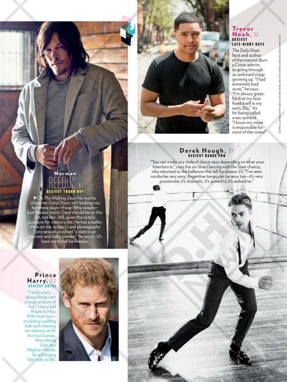 "Derek featured on People Magazine's ""Sexiest Man Alive"" issue (November 28, 2016)"