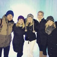 """Love these humans!!! @shareewise @marabethpoole @derekhough @juleshough #icecastles #family"" - December 28, 2016 Courtesy katherineh82 IG"