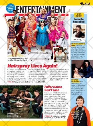 Closer features Hairspray Live! on its December 12, 2016 issue