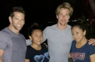 Derek and Mark meeting some fans while being in Belize - December 21, 2016 Courtesy ambergris today