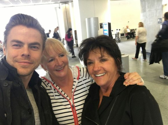 """when grams met @derekhough in the airport today"" - December 15, 2016 Courtesy hiaveree twitter"