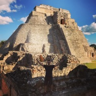 """Pyramid of the Magician in Uxmal, Mexico. #travel #uxmalruins #mayanruins #adventure #history #livebig"" - December 16, 2016 Courtesy markpulse IG"