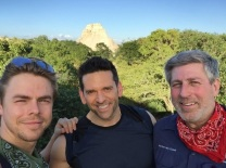 """Climbing high above the trees in Uxmal, Mexico w @DerekHough and Bruce. #amazing #mayanruins #mexico #travel #adventure #perfectday #picoftheday"" - December 17, 2016 Courtesy markpulse IG"