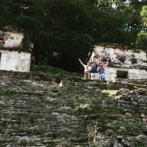 """Made it to the top of Bonampak w @derekhough and Bruce. And yes, I have my #hornsup 🤘🏻 #mayanruins #mexico #adventure #travel #picoftheday #jungle #rainforest"" - December 17, 2016 Courtesy markpulse IG"