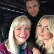"""In New York on the bus heading to #rachelrayshow #nyc #familytime #juliannehough #derekhough"" - December 13, 2016 Courtesy marriannhough IG"