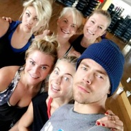 """Love my peeps... always the Best day hanging out, working out, eating out, talking, laughing, loving and just being together... wahooo... #familytime #derekhough #katherinehough #juliannehough #marabethpoole #shareewise"" - December 28, 2016 Courtesy marriannhough IG"