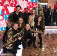"""To everyone on the West Coast it's about to go down, my client Kayla Radomski is set to dance this morning on Good Morning America with Derek & Julianne Hough towards the end of the show, Thank you Nappytabs #AlreadyOnPlaneToLA #ProudManager #HappyDancer #DancersLife #TiredDancer — with Kayla Radomski."" - December 14, 2016 Courtesy silverhardtthegreat IG"