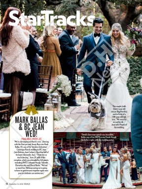The feature of People Magazine's about Mark and BC's wedding - December 12, 2016 issue