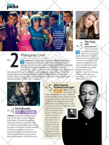 People features Hairspray Live! on its December 12, 2016 issue