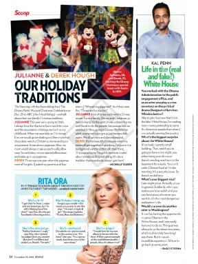 Derek and Julianne on People Magazine's December 19, 2016 issue