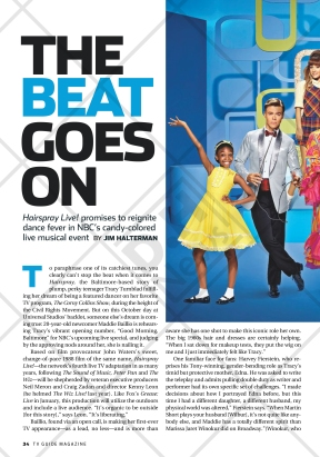 Hairspray Live! featured on TV Guide - December 5, 2016 issue