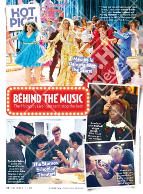 Us Weekly features Hairspray Live! on its December 12, 2016 issue