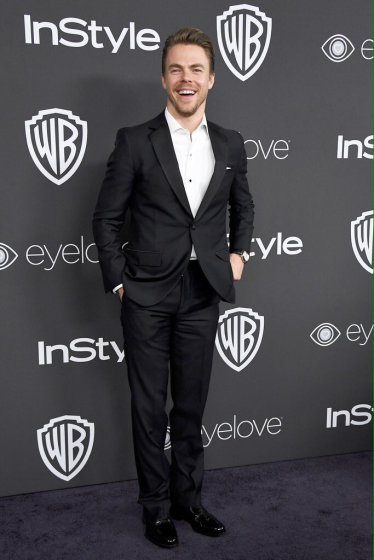 """""""Dancer @derekhough at the Warner Bros. Pictures And InStyle Host 18th Annual Post-Golden Globes Party. #GoldenGlobes"""" - January 8, 2017 Courtesy awardshowupdate twitter"""