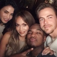 """#repost Introducing #WORLDOFDANCE @neyo @derekhough and joining our lil family the lovely @jennaldewan #comingsoon #NBC ™@jlo"" - January 4, 2017 Courtesy derekhough IG"