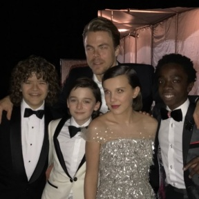 """""""Stranger things have happened. See what I did th...oki doki I'll be right over here. #goldenglobes2017 #aboutlastnight"""" - January 8, 2017 Courtesy derekhough IG"""