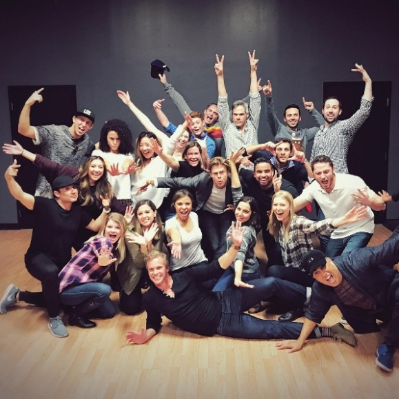 """and 5, 6, 7, 8... #StaffHolidayParty #DanceClass #NBC #WorldOfDance"" - December 10, 2016 Courtesy joeyafemia IG"