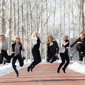 """Jumping into a new Year... wahooo...#Juliannehough #Marabethpoole #Shareewise #Katherinehough #Derekhough"" - December 30, 2016 Courtesy marriannhough IG"