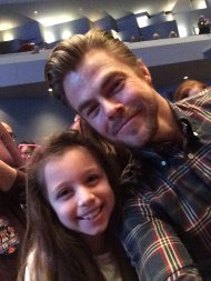 """@derekhough thank you made my little girls night!"" - February 12, 2017"